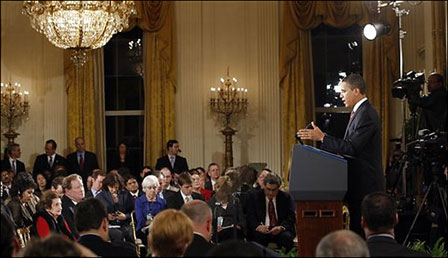 President Barrack Obama's first press conference