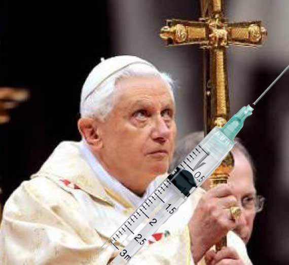 Pope Benedict XVI and the Catholic Church oppose anabolic steroids in sports