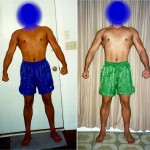 Front Lat Spread - Before and After - Week 1 (left) vs Week 3 (right)