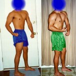 Side Chest - Before and After - Week 1 (left) vs Week 3 (right)