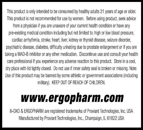 is ergopharm 6-oxo a steroid