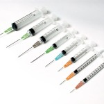 Anabolic steroid injections - syringes and needles