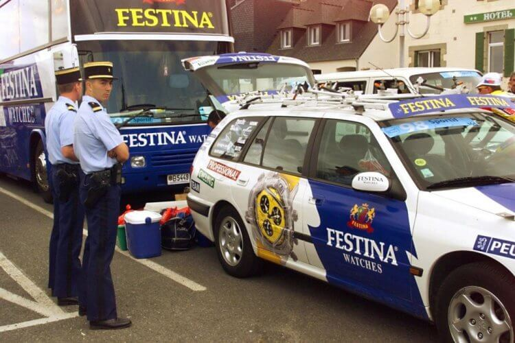 Festina doping scandal at the 1998 Tour de France