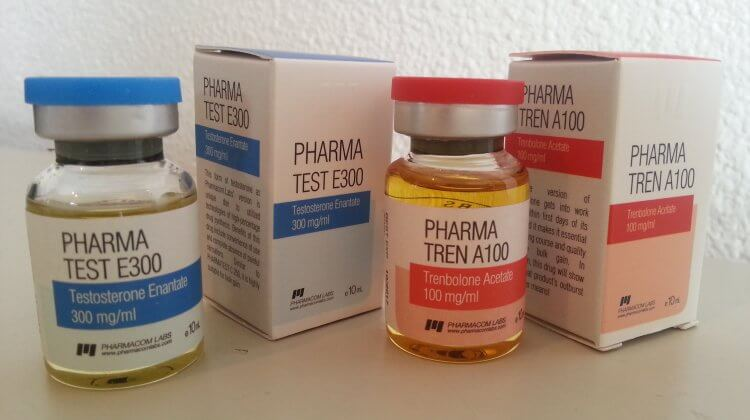 Testosterone enanthate and trenbolone acetate (Pharmacom Labs)